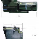 New PPC Pump AT10D (Up Rated) 1HP, 115/230 VAC 1-Phase, 15.0 / 7.5 Amps., 1.0SF