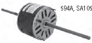 "5-5/8"" Diameter Double Shaft Fan & Blower Motors"