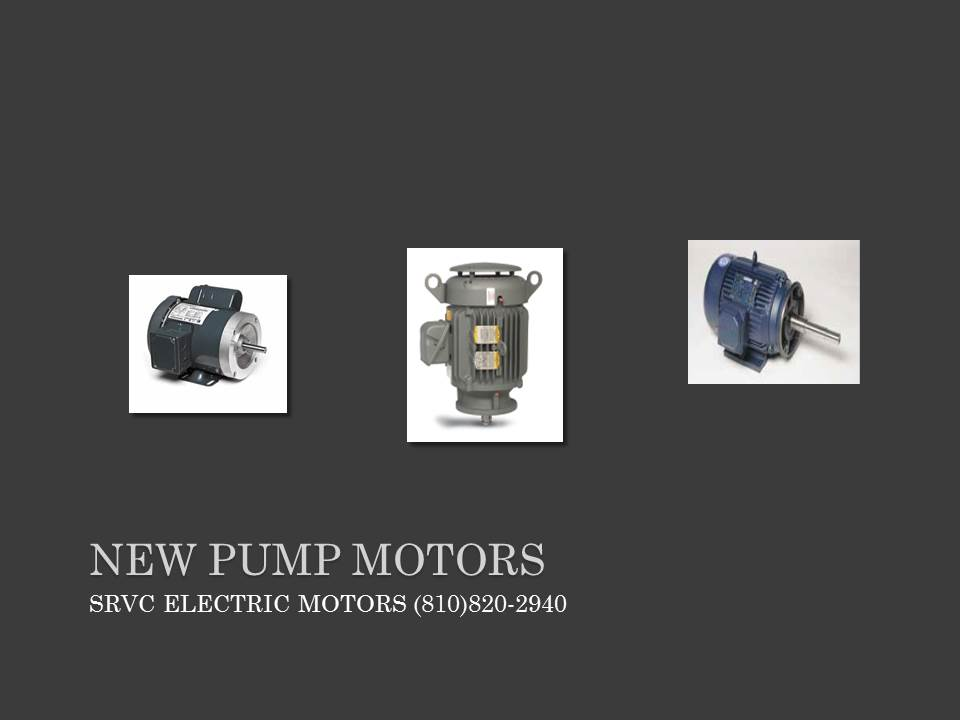 ELECTRIC PUMP MOTORS