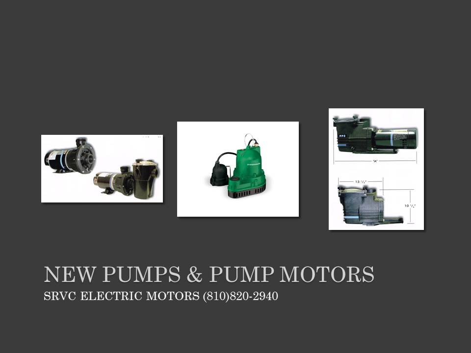 ELECTRIC PUMPS & ELECTRIC PUMP MOTORS